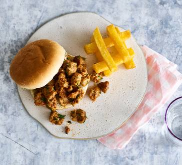 Sausage Sloppy Joes with Crispy Polenta Fries image