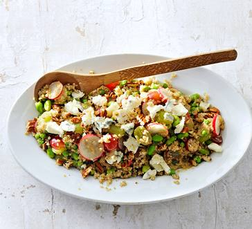 Quinoa, Radish, and Grape Salad image