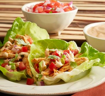 Chili Chicken Lettuce Tacos image