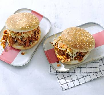 Slow Cooker Pulled BBQ Chicken Sandwiches image