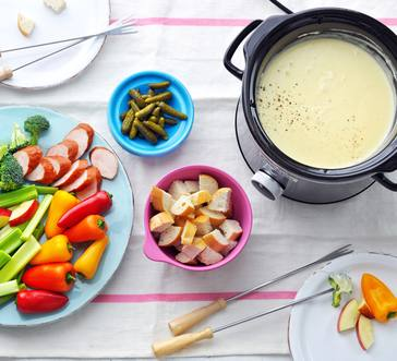 Slow Cooker Cheese Fondue image