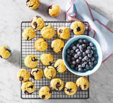 Mini Blueberry-Corn Muffins image