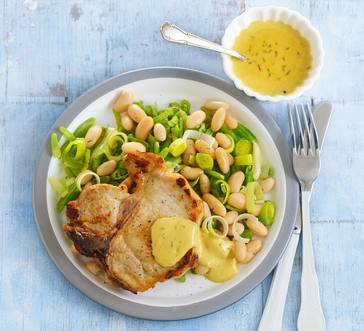 Pork Chops with Mustard Thyme Sauce | Stop and Shop
