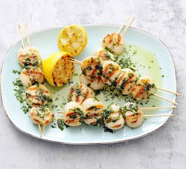 Grilled Scallops with Grilled Lemon Butter image