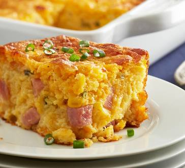 Cornbread and Country Ham Casserole image