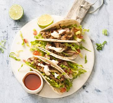 Pork Tacos with Chipotle Sour Cream image