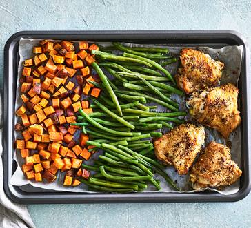 Baked Lemon Pepper Chicken with Veggies image