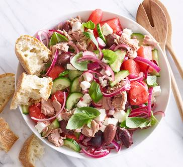 Watermelon, Tuna, and Feta Salad image