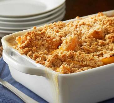 Quick and Easy Peach Crumble image