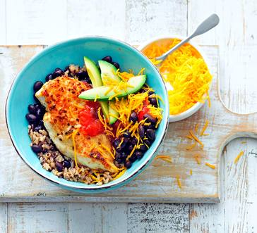 Fiesta Chicken, Black Bean, and Rice Bowl image