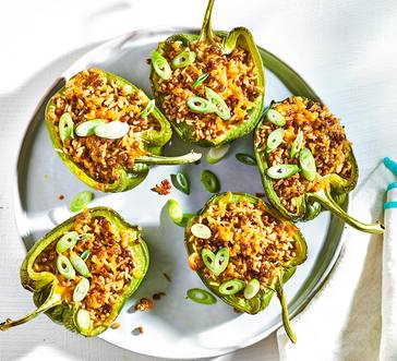 Cajun Rice–Stuffed Peppers image