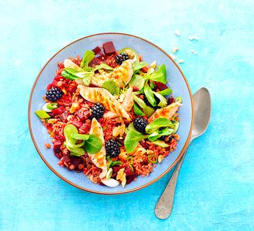 Chicken, Rice, and Blackberry Salad image