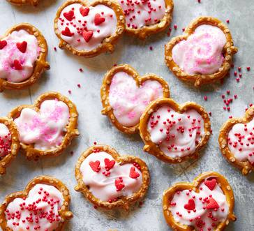 White Chocolate Pretzel Hearts image