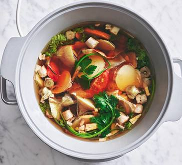 Slow Cooker Veggie Broth image