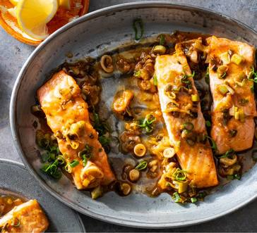 Baked Salmon with Spicy Lemon Butter image
