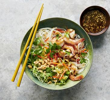 Vietnamese-Style Noodles with Grilled Shrimp image