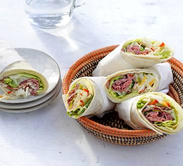 Roast Beef and Cheddar Wraps image