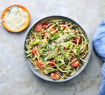 Roasted Veggies with Whole-Grain Pasta image