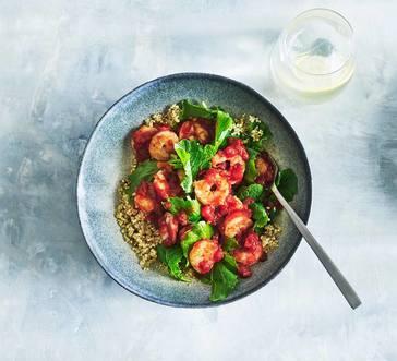 Seared Shrimp with Salsa image