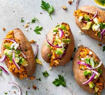 Quinoa- Stuffed Sweet Potatoes image