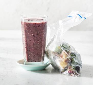 Blueberry and Spinach Smoothie Packs image