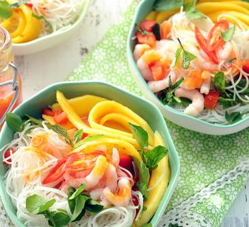 Asian Noodle Salad with Shrimp, Watercress and Mango image