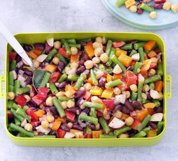 Rainbow Three-Bean Salad image