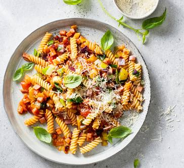 Fusilli with Ham and Veggies image