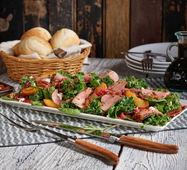 Smithfield® Cracked Pepper Tenderloin Salad with Peaches image