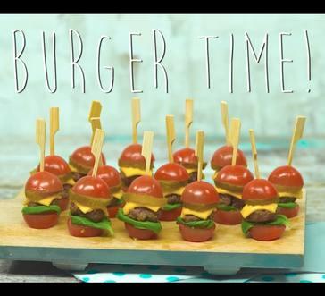 Mini Tomato Burger Bites image