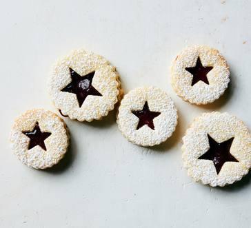 Raspberry Linzer Cookies image