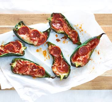 Pizza-Stuffed Poblano Peppers image