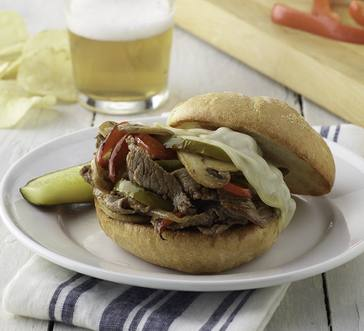 Philly Cheesesteak Burger image