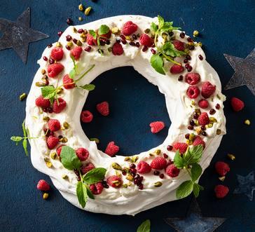 Christmas Wreath Pavlova image