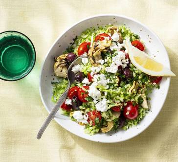 Veggie Rice with Artichokes and Feta image