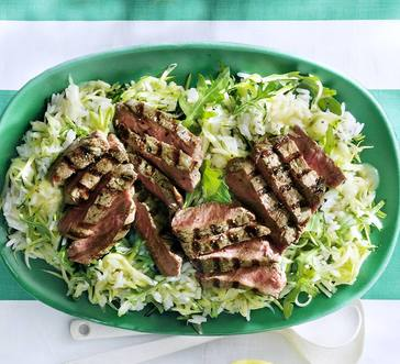 Grilled Steak with Zucchini Rice Salad image