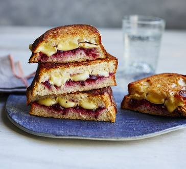 Grilled Cheese with Brie and Cranberry Sauce Inspiration image