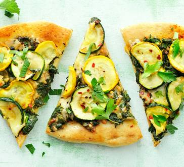 Zucchini and Spinach Pizza image