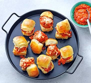 Pull-Apart Sausage Meatball Sliders image