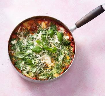 Easy Skillet Spinach Lasagna image