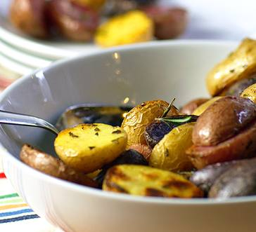 Buttery Roasted Baby Potatoes with Rosemary image