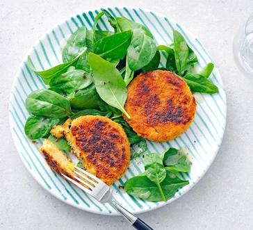 Chickpea and Corn Cakes image