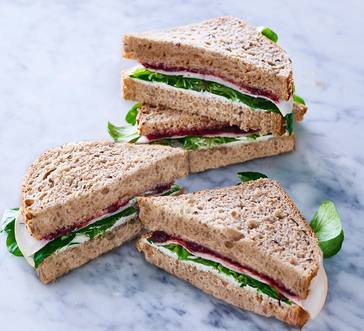 Turkey Sandwiches with Herbed Goat Cheese and Watercress image