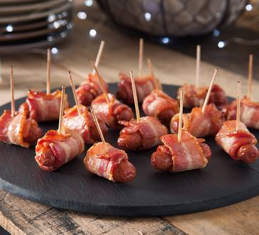 Wright® Brand Bacon Wrapped Lit'l Smokies® Sausages image