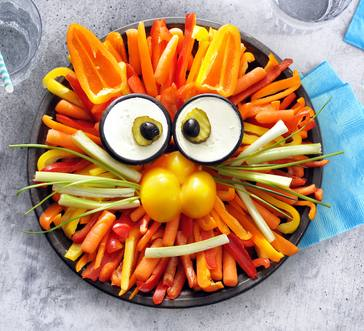 Lion Veggies and Dip Platter image
