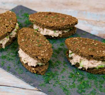 Tuna Salad Football Sandwiches image