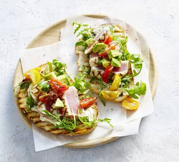 Grilled Tuna and Avocado Bruschetta image