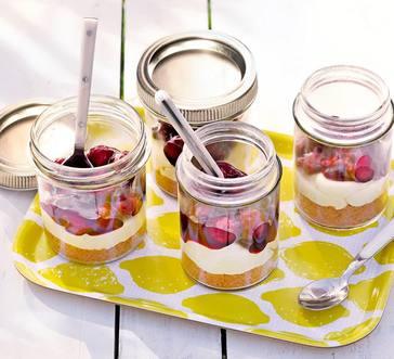 Cherry Cheesecake Jars image