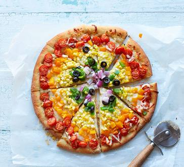 Rainbow Pizza image