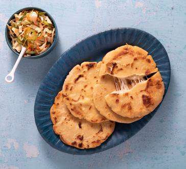 Salvadoran Cheese-Stuffed Pupusas image